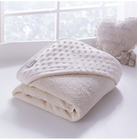 Clair De Lune Luxury Hooded Towel - Dimple Cream
